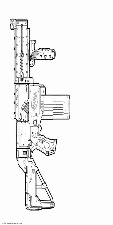 Nerf Sniper Rifle Coloring Page