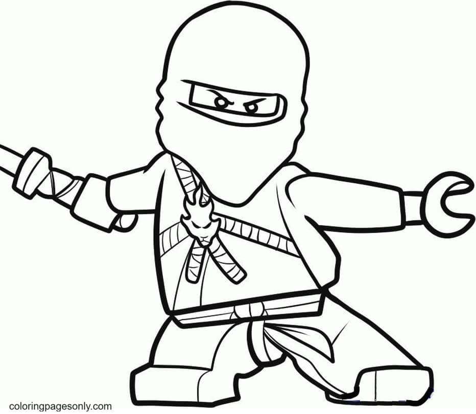 Ninja Attack Coloring Page