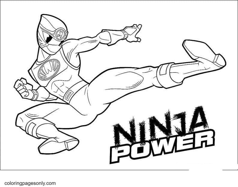 Ninja Power Coloring Page