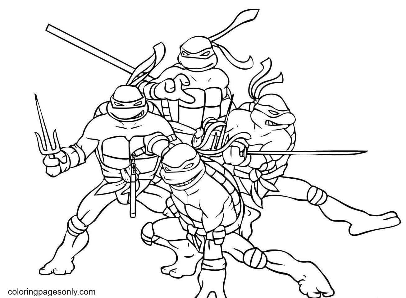 Ninja Shinobi Coloring Page