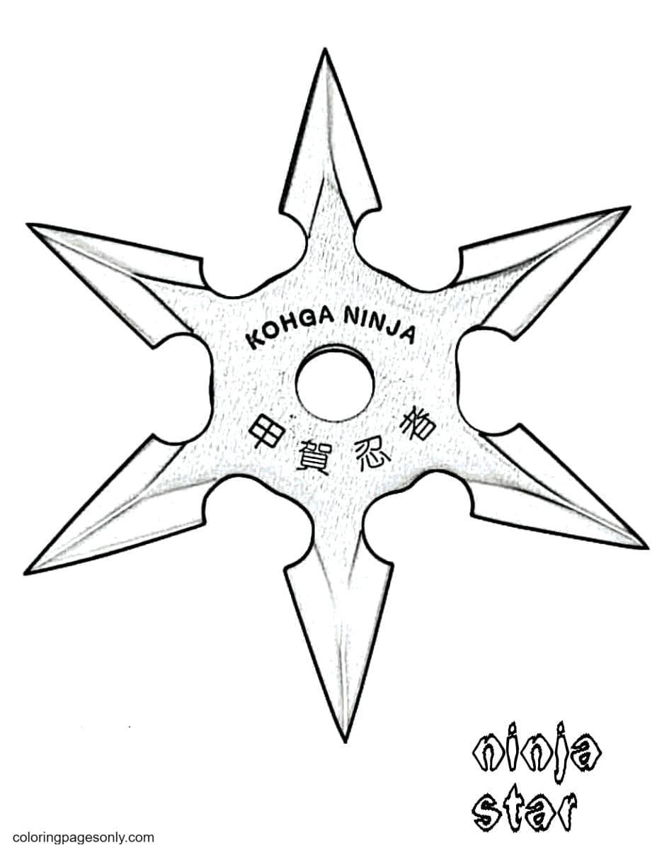 Ninja Star Coloring Page