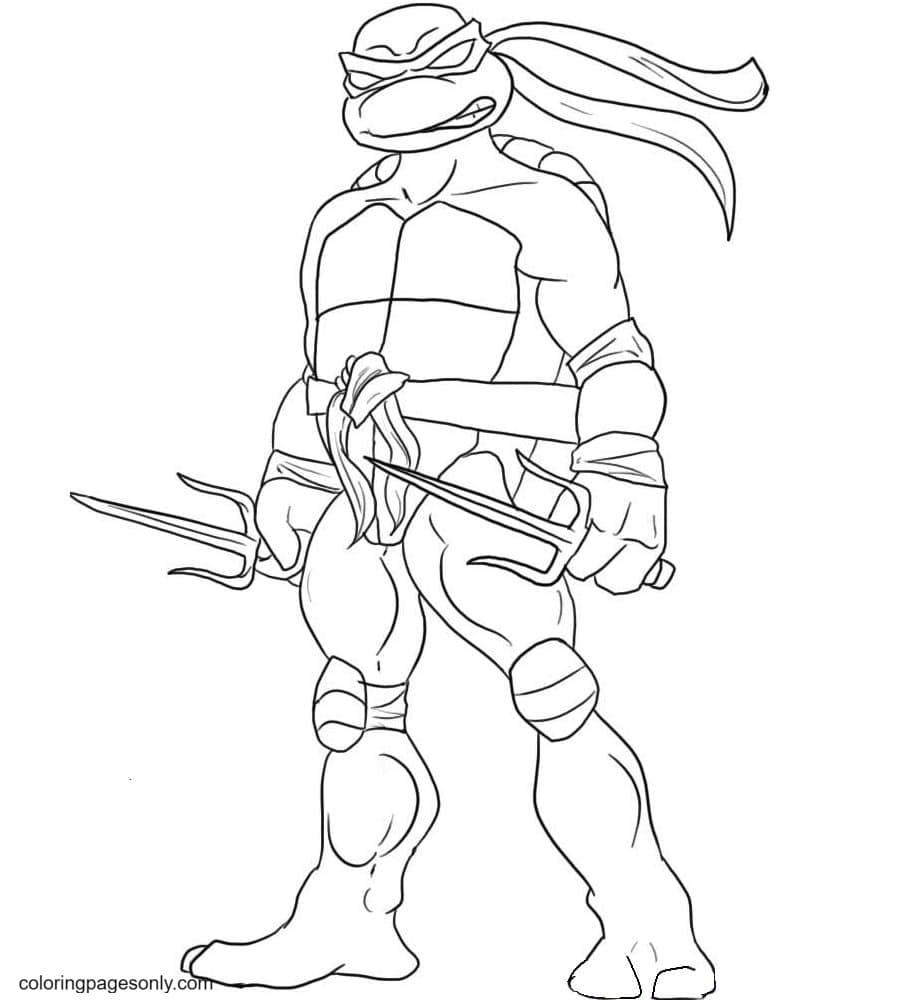 Ninja Turtles Attack Coloring Page