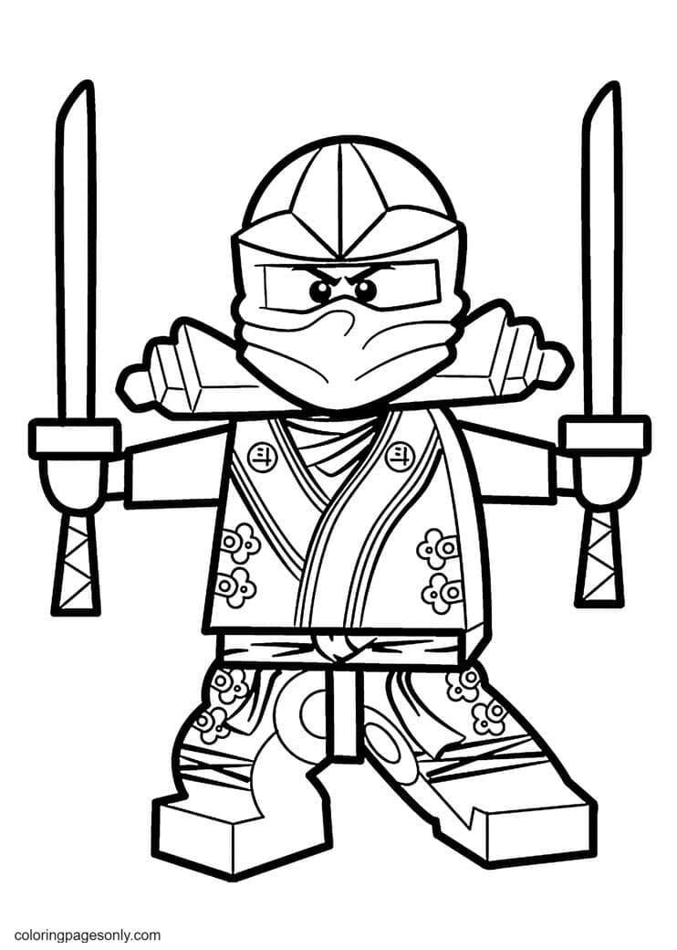 Ninja with Shikomizue Coloring Page