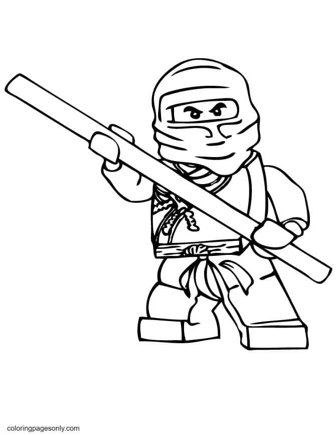 Ninjago Attack Coloring Page