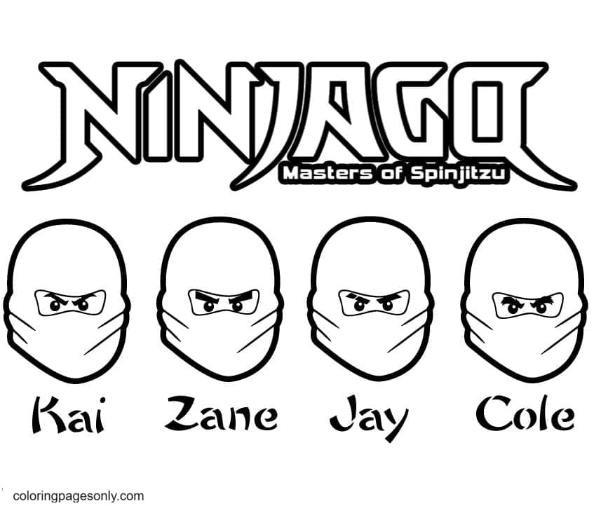 Ninjago Master Coloring Page