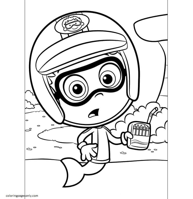 Nonny Bubble Guppies Coloring Page