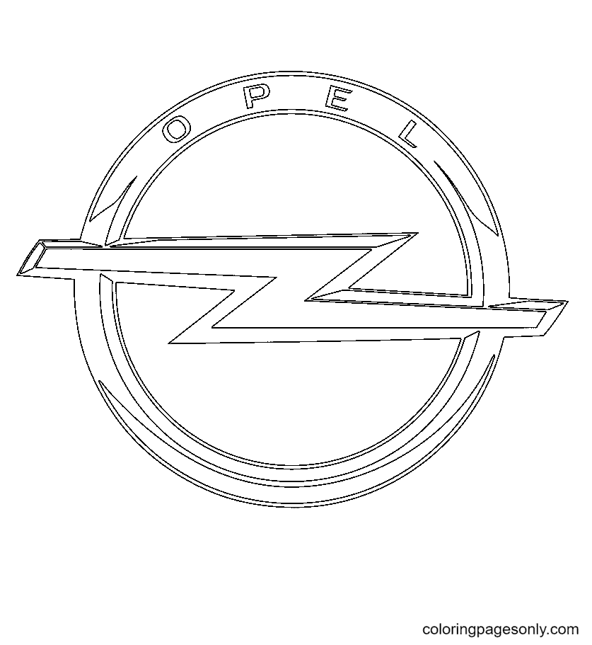 Opel Logo Coloring Page