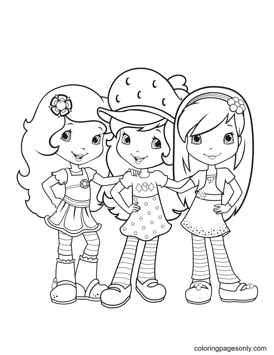 Orange Blossom, Strawberry Shortcake and Raspberry Torte Coloring Page