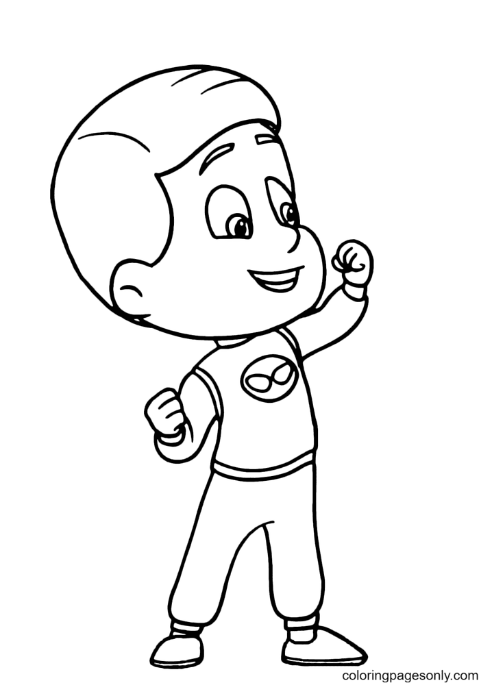 PJ Masks Connor Coloring Page