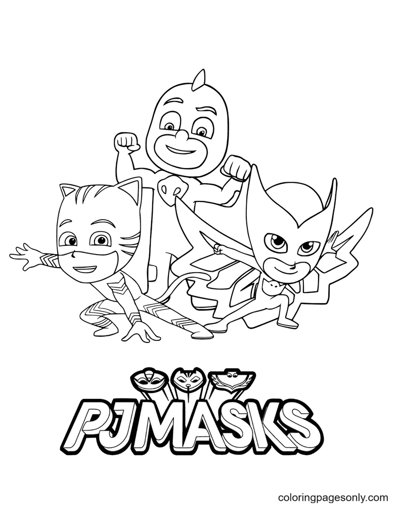 PJ Masks for kids Coloring Page
