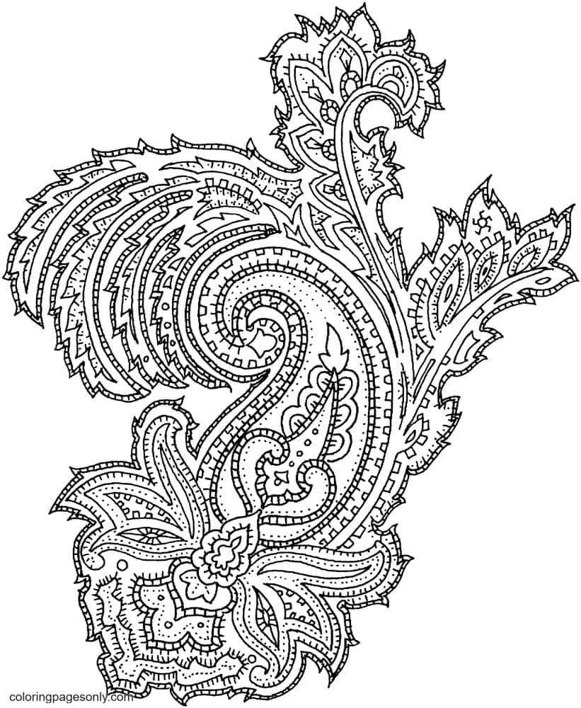 Paisley1 Coloring Page