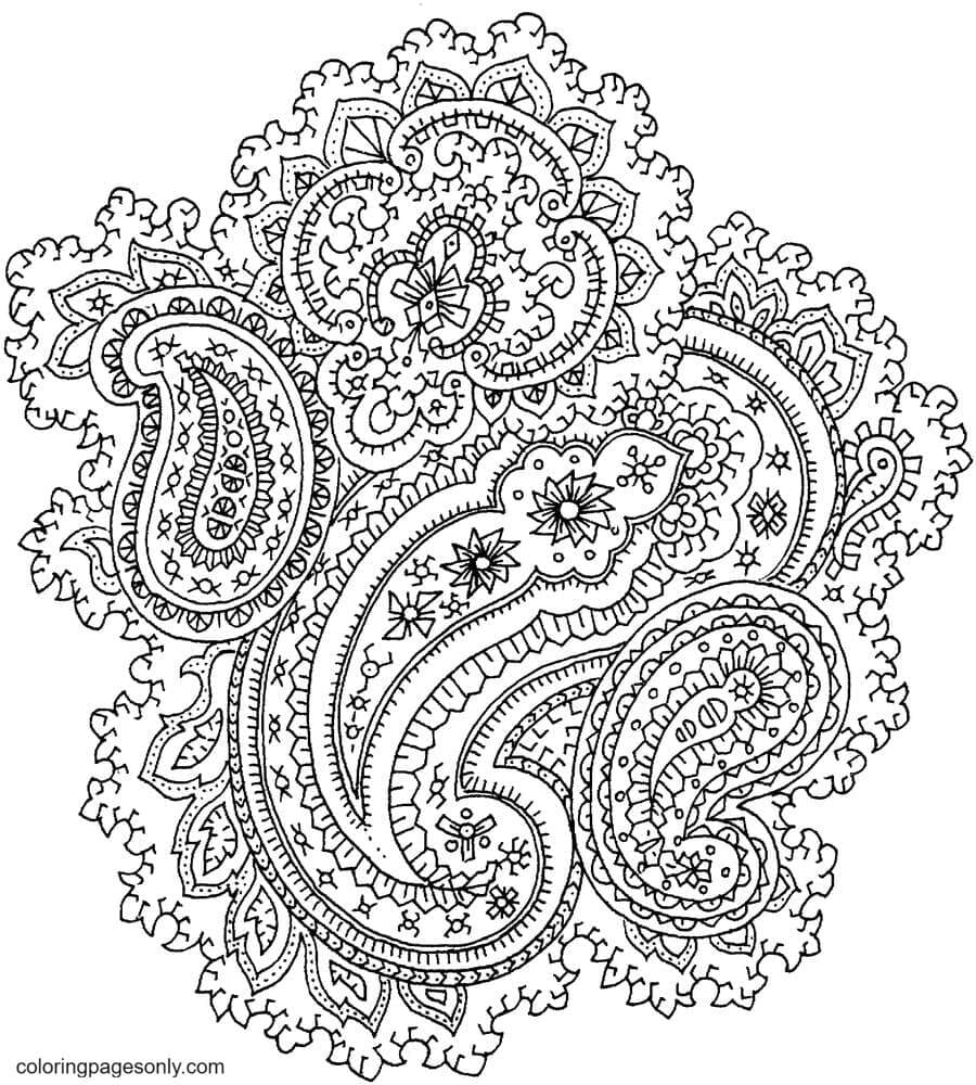 Paisley4 Coloring Page
