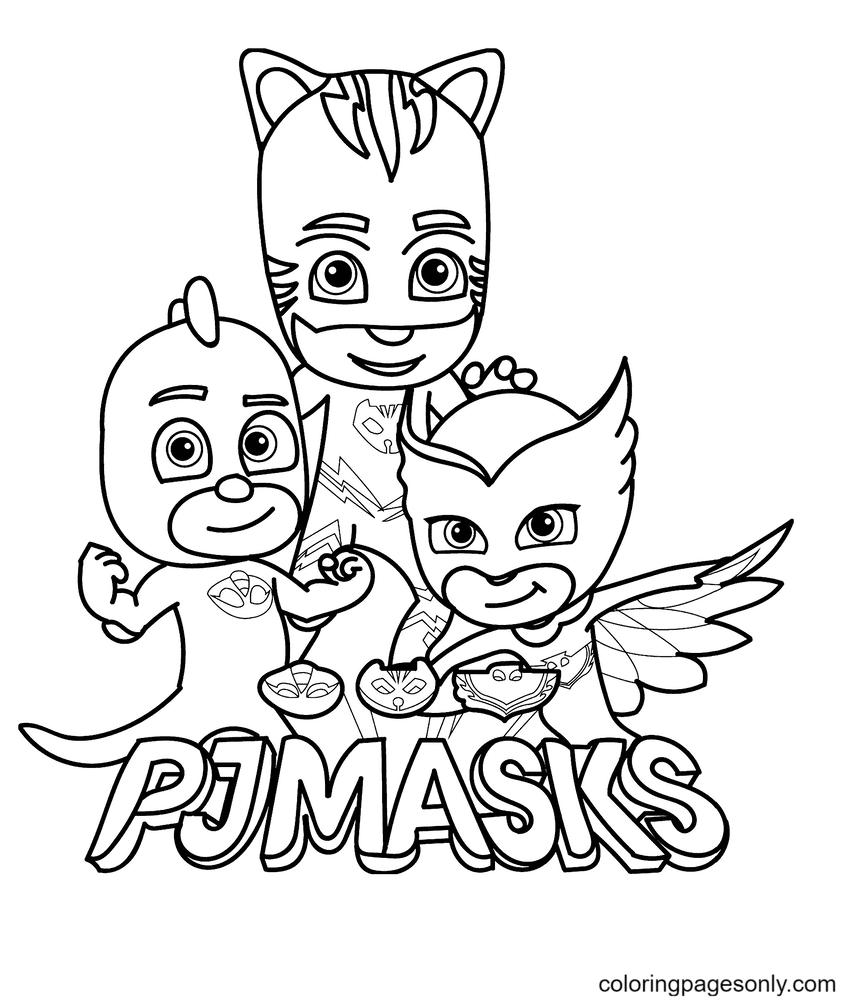 Pajama Hero from PJ Masks Coloring Page