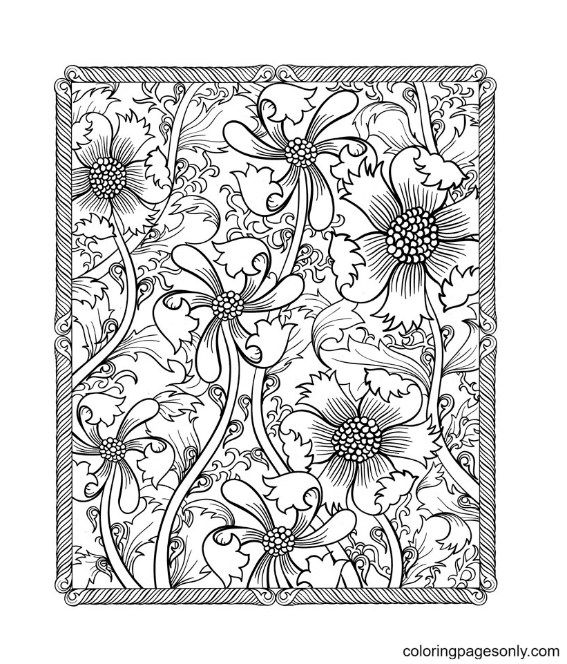 Patterns Hard Images Coloring Page