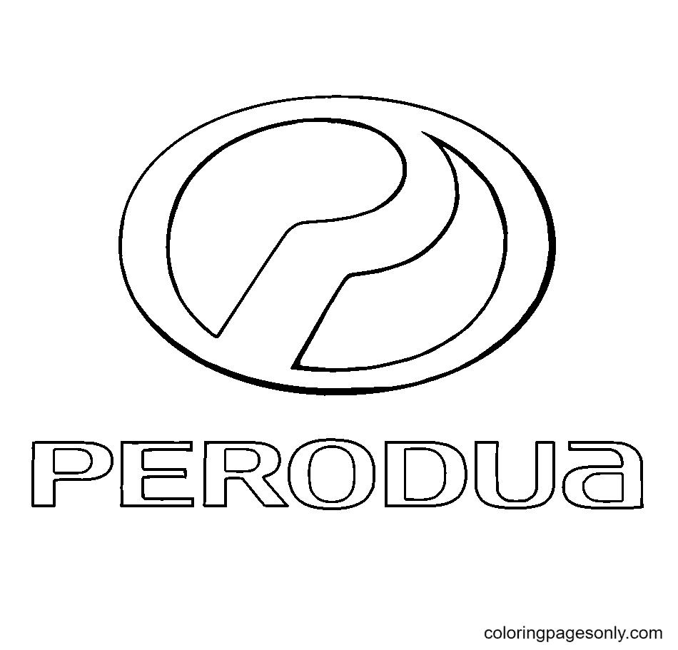 Perodua Logo Coloring Page