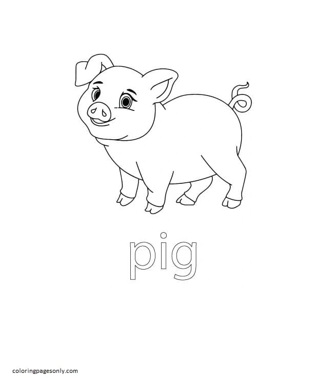 Pig Farm Coloring Page