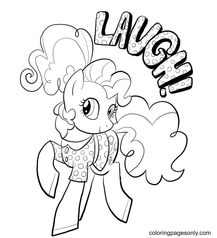 Pinkie Pie with a beautiful shirt Coloring Page