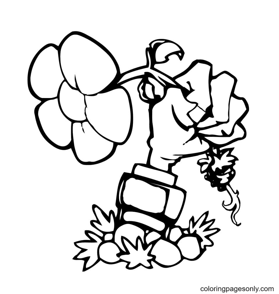 Plants vs Zombies Printable Coloring Page