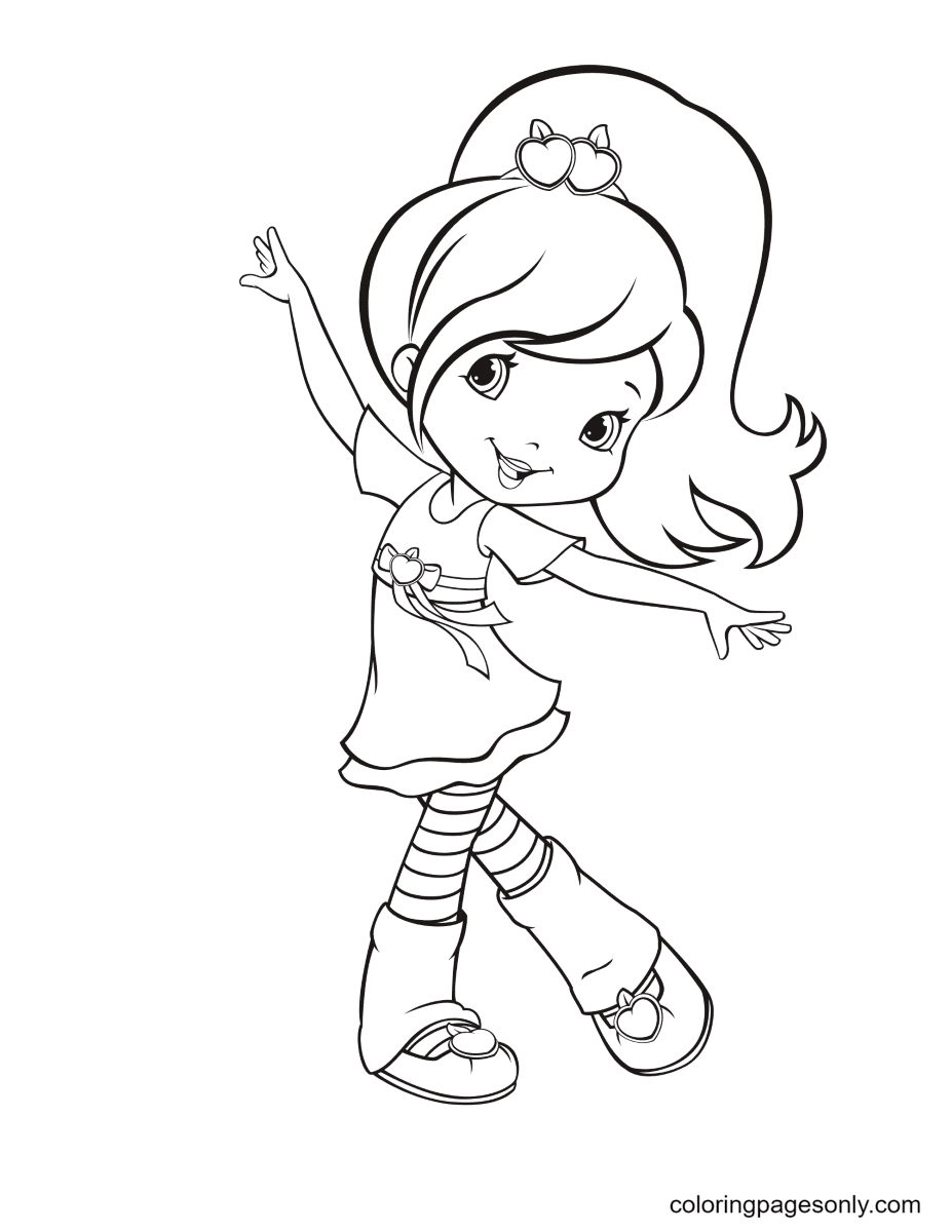 Plum Pudding Dancing Coloring Page