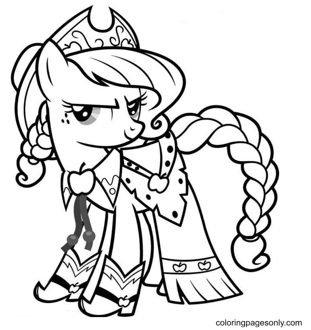 Pony Applejack Coloring Page