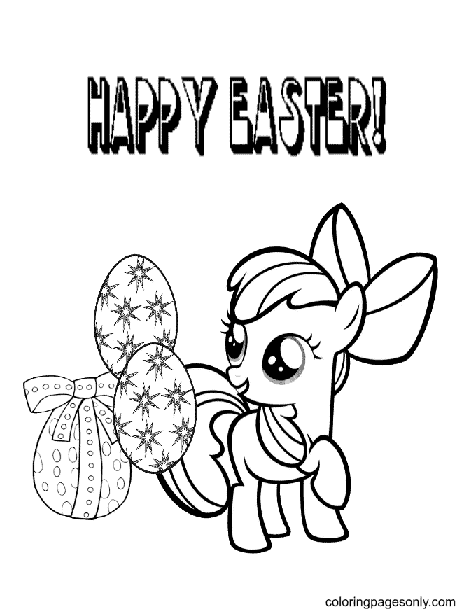 Pony Easter Egg Coloring Page