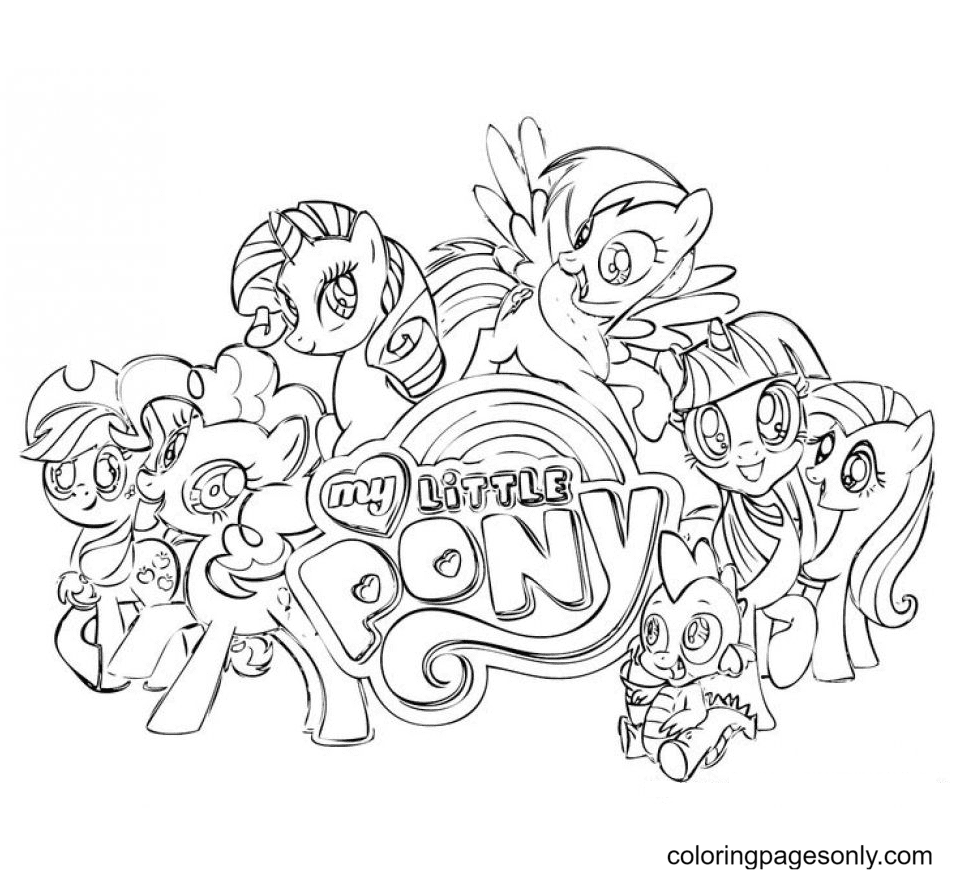 Pony Friendship Is Magic Coloring Page