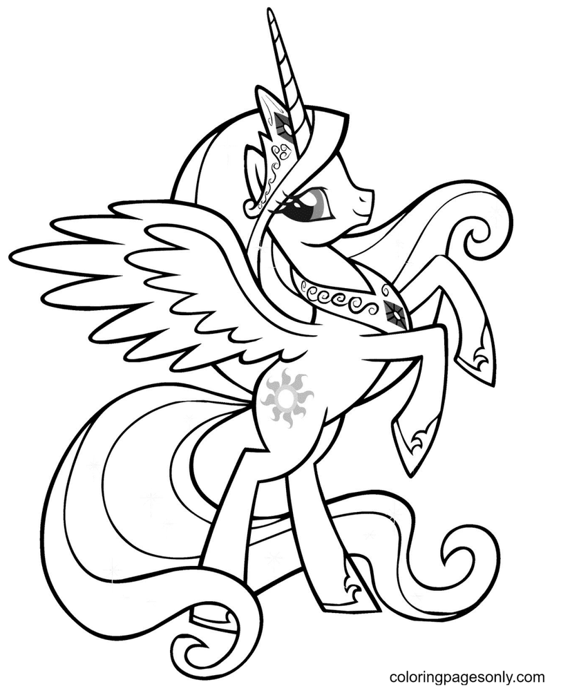 Pony My Little Pony Coloring Page