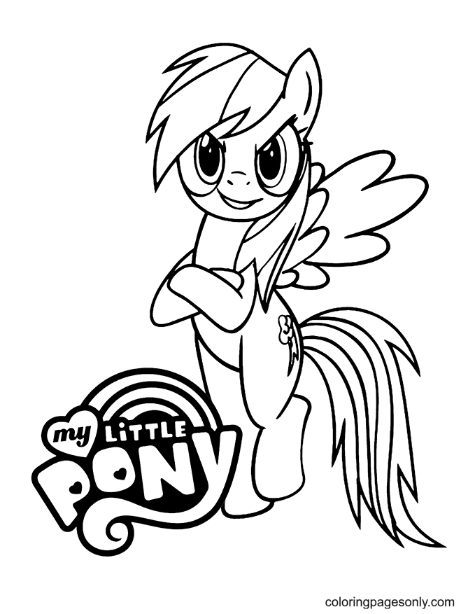 Pony Rainbow Dash Cool Coloring Pages