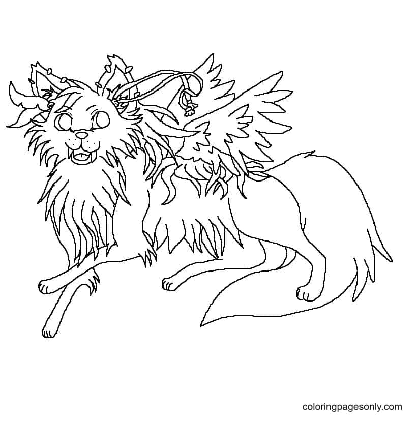 Pony Winged Knee High Coloring Page