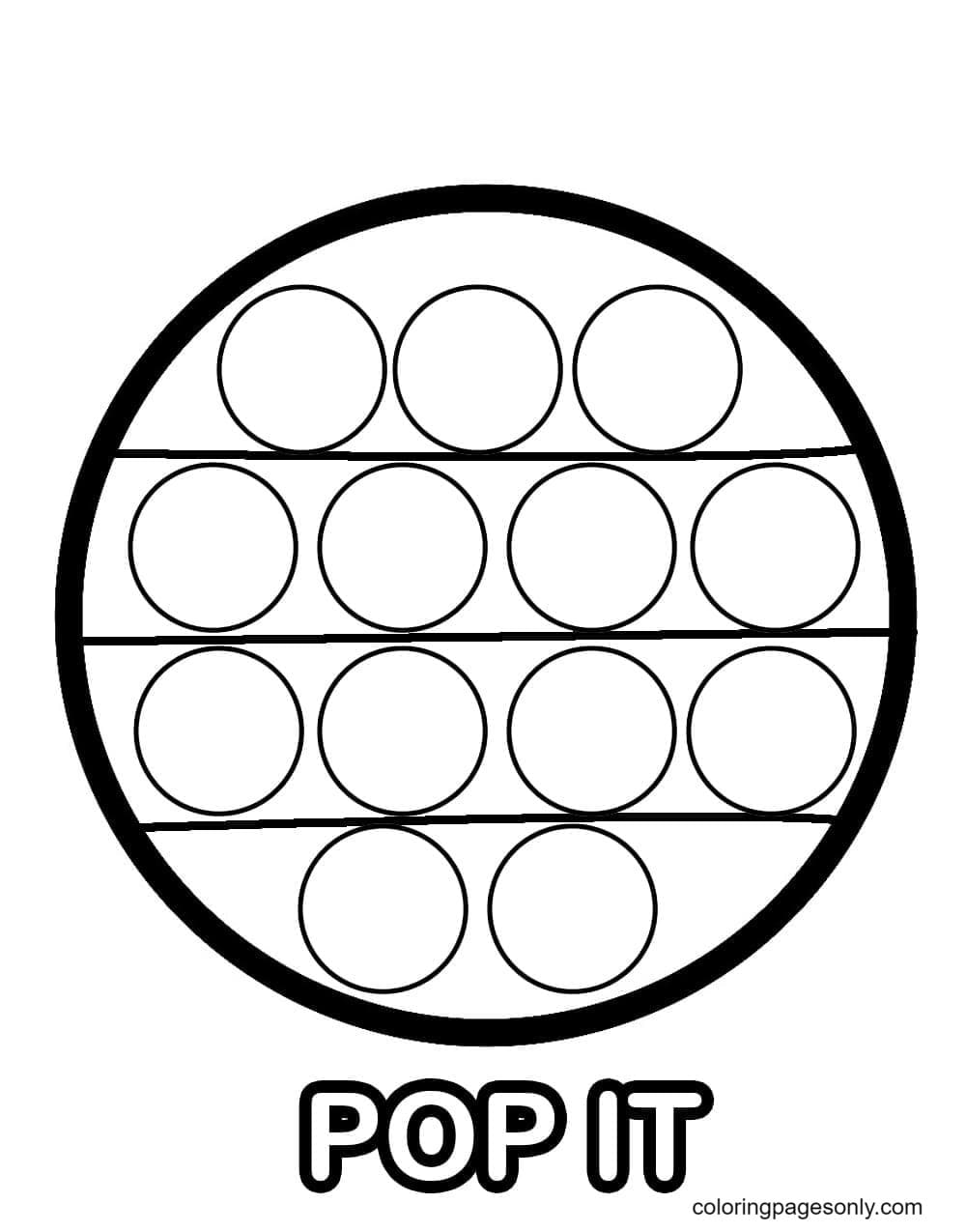 Pop It Circle Coloring Page