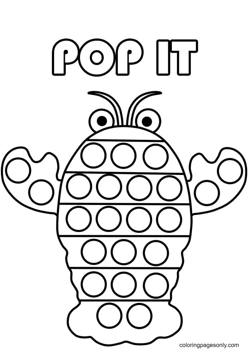 Pop It Crab Coloring Page