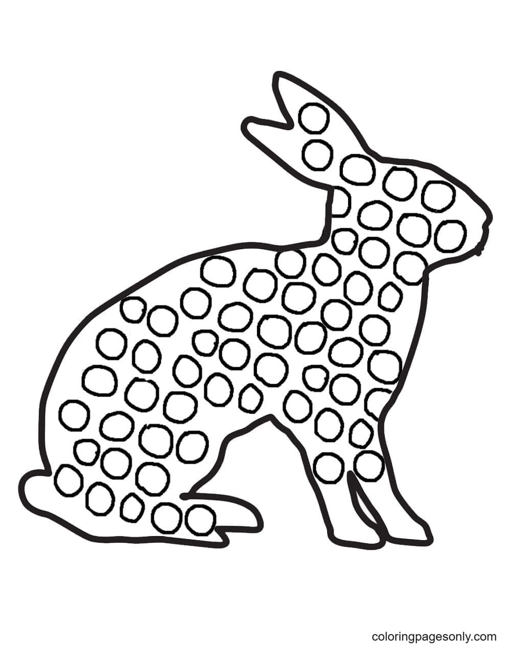 Pop It Hare Coloring Page
