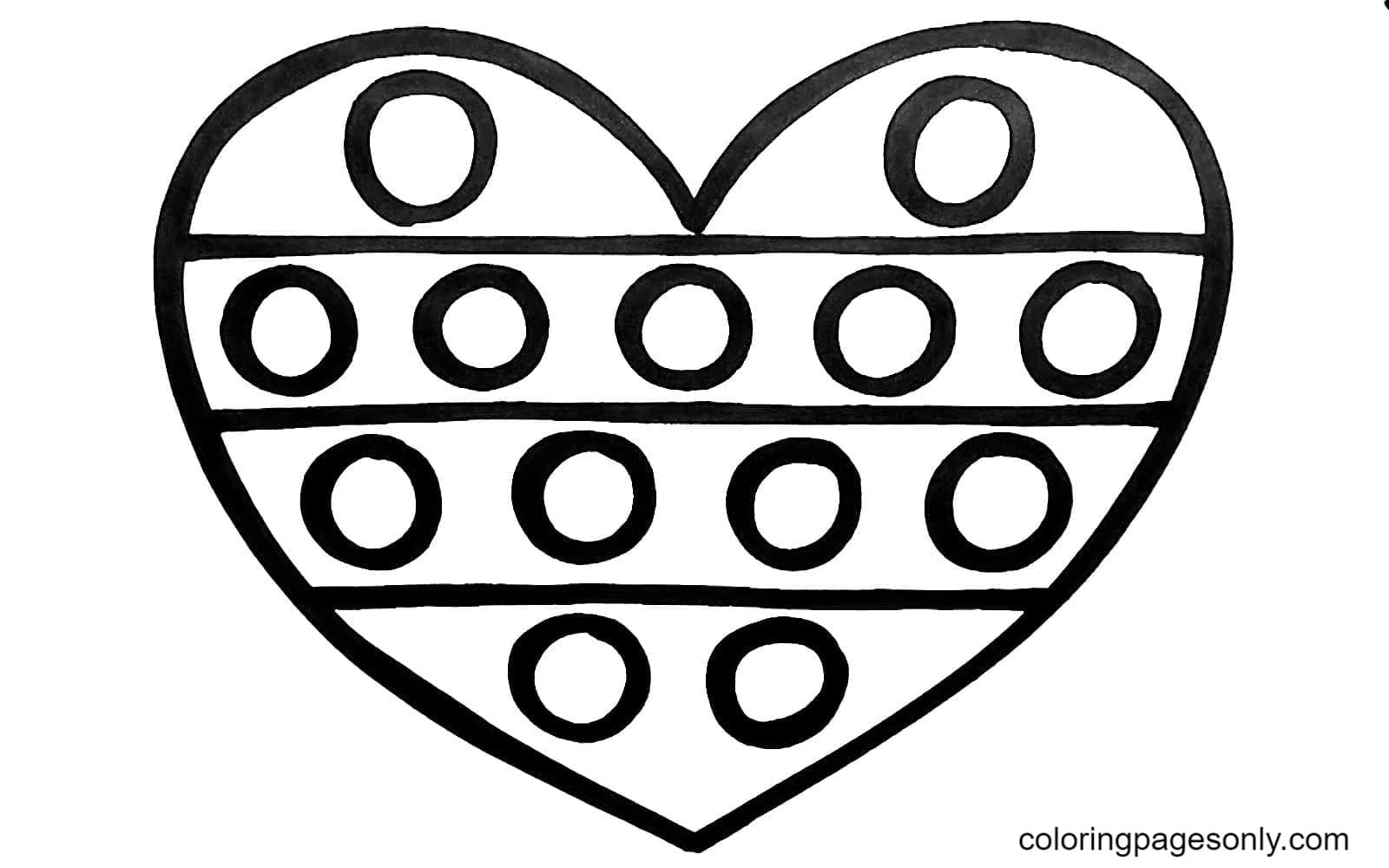 Pop It Heart Coloring Page