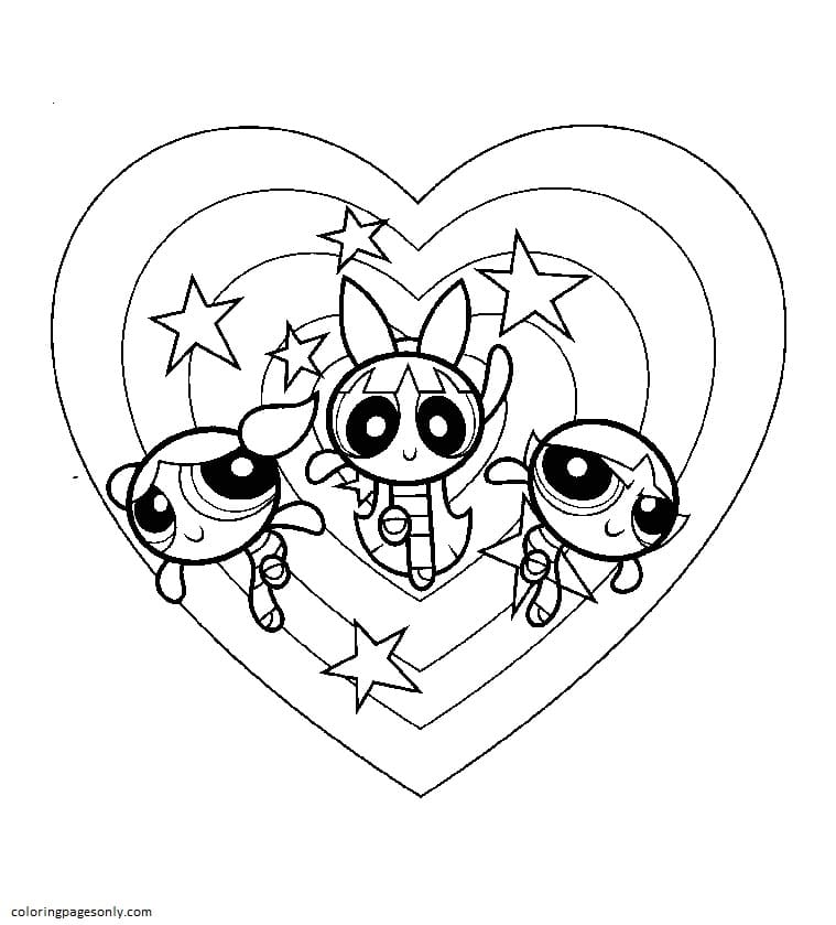 Powerpuff-Girls 1 Coloring Page