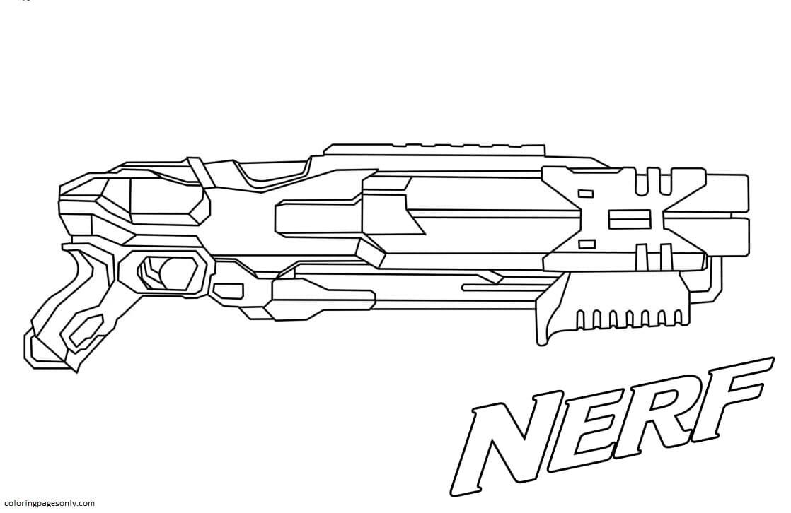 Powerful shotgun Nerf Coloring Page