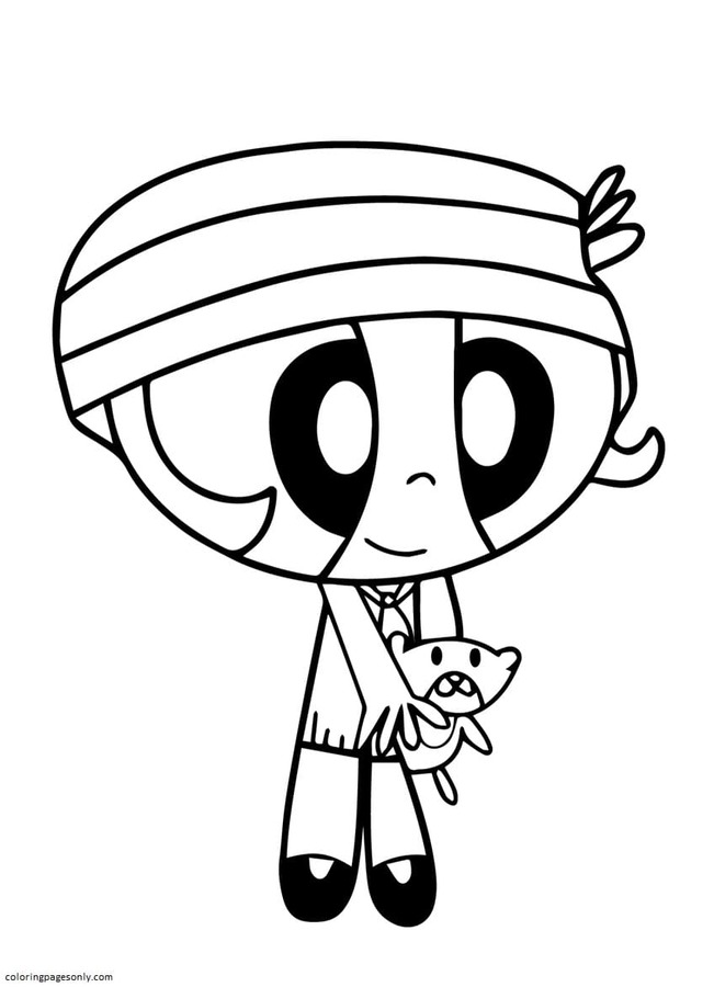 Powerpuff Girls 6 Coloring Page