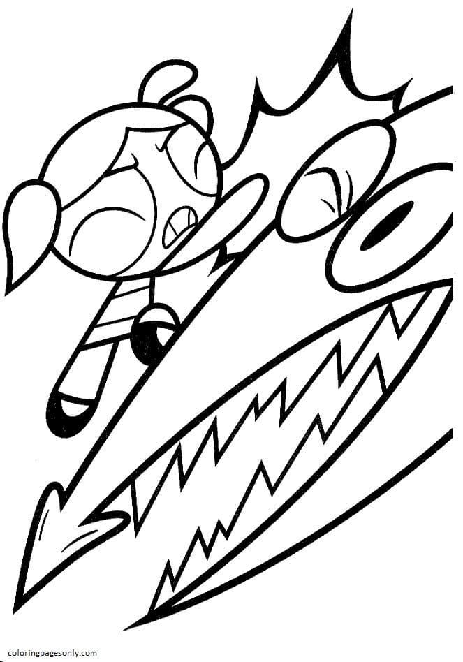 Powerpuff Girls Cartoon 4 Coloring Page
