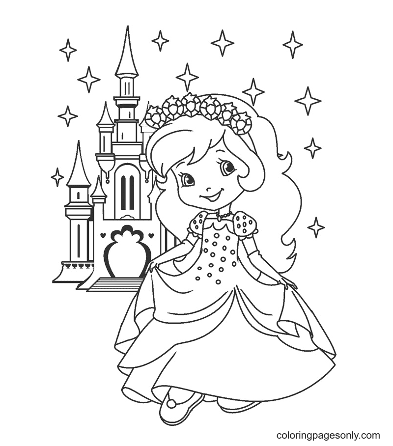 Princess Strawberry Shortcake Coloring Page