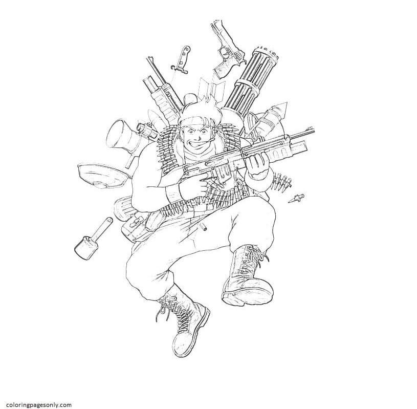 Print Free Image Gun Coloring Page