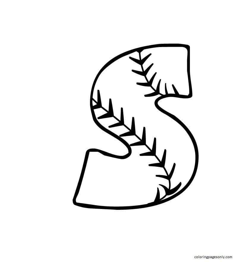 Printable Baseball 4 Coloring Page