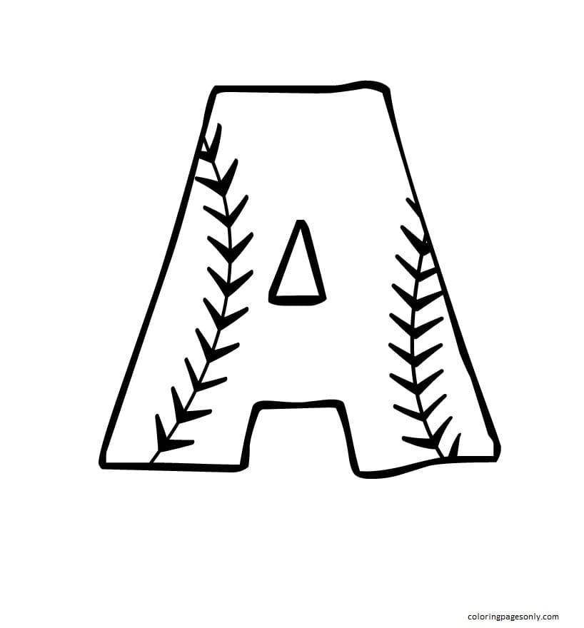 Printable Baseball 5 Coloring Page