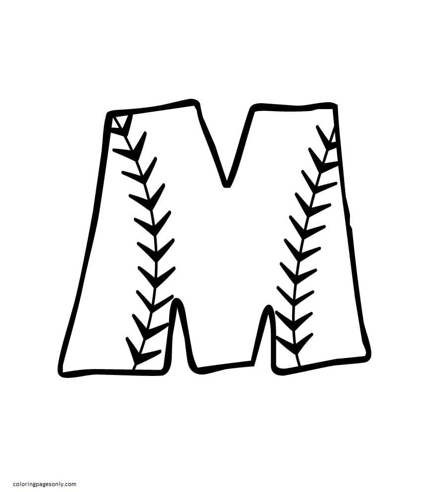 Printable Baseball 6 Coloring Page