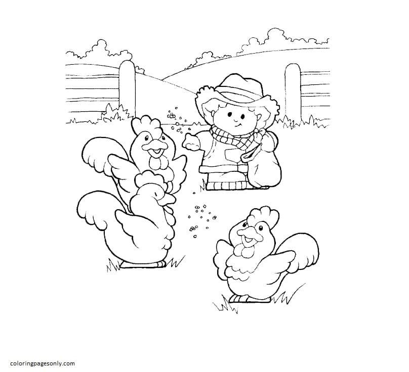 Printable Farm 3 Coloring Page