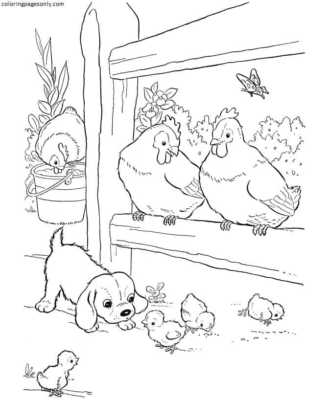 Printable Farm Animals 4 Coloring Page