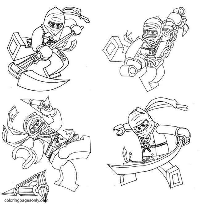 Printable Ninjago Coloring Page