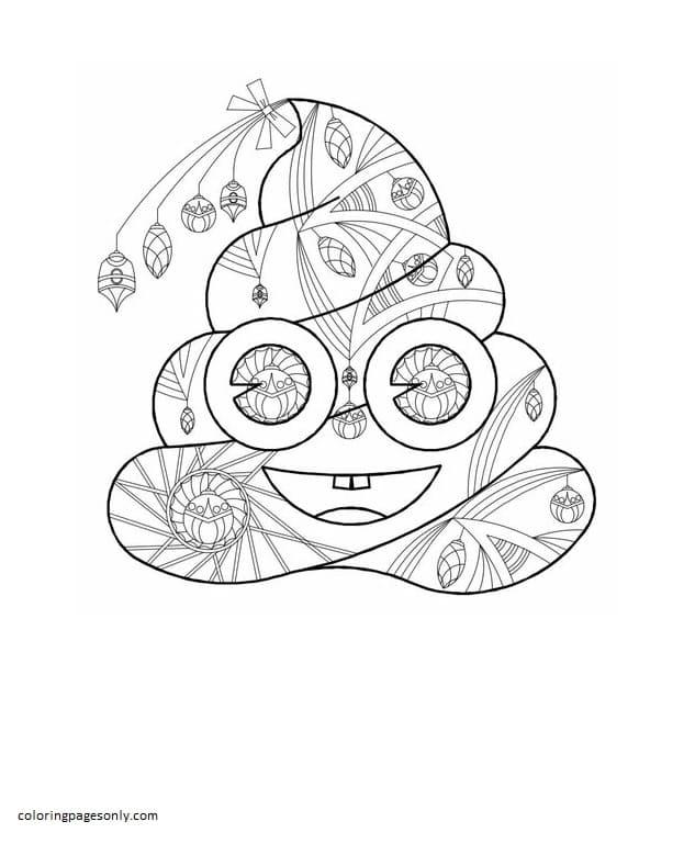 Printable Poop Emoji Coloring Page