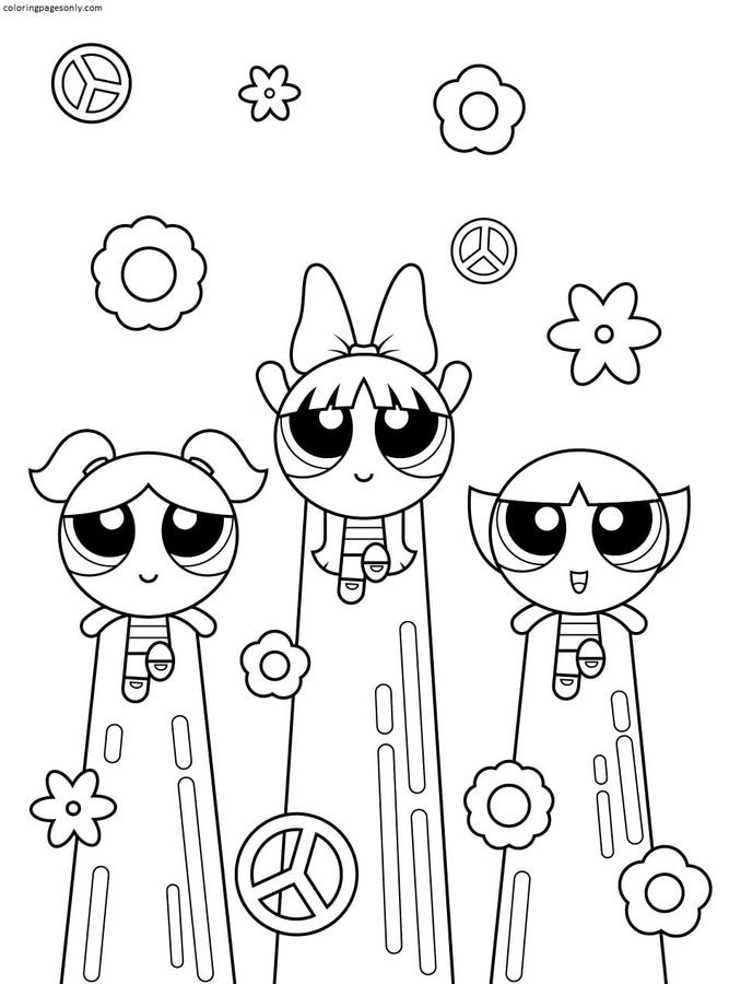 Printable Powerpuff Girls 6 Coloring Page