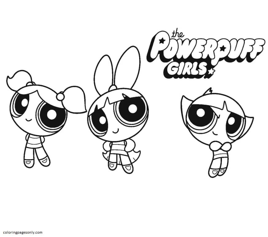 Printable Powerpuff Girls 8 Coloring Page