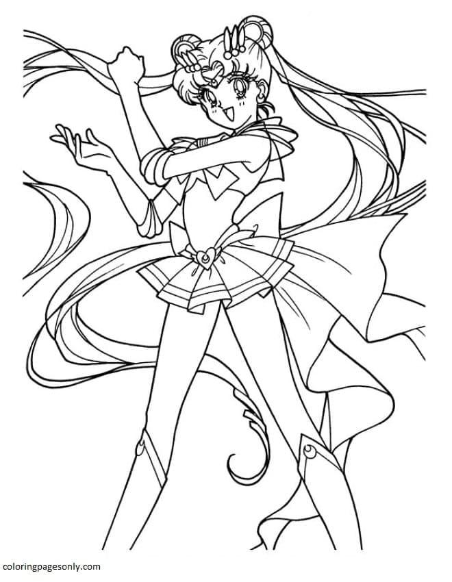 Printable Sailor Moon 0 Coloring Page