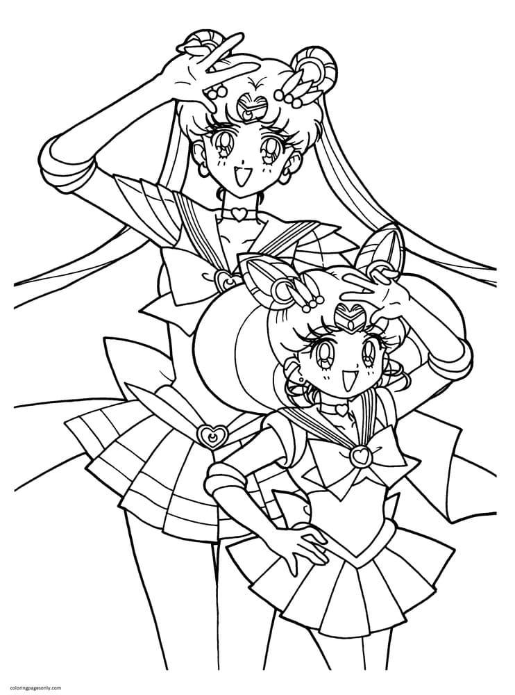 Printable Sailor Moon 1 Coloring Page